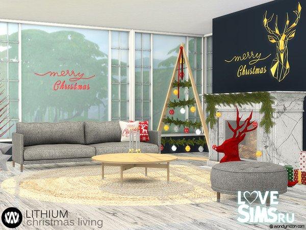 Гостиная Lithium Christmas Living от wondymoon