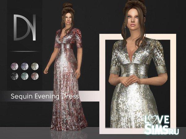 Платье Sequin Evening Dress