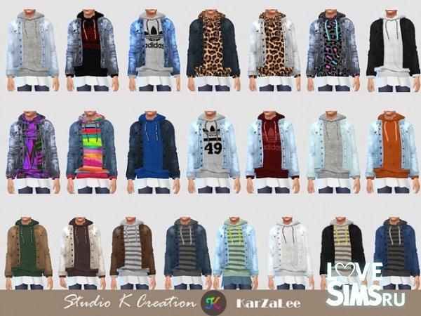 Куртка Jeans Jacket hoodie top от Karzalee