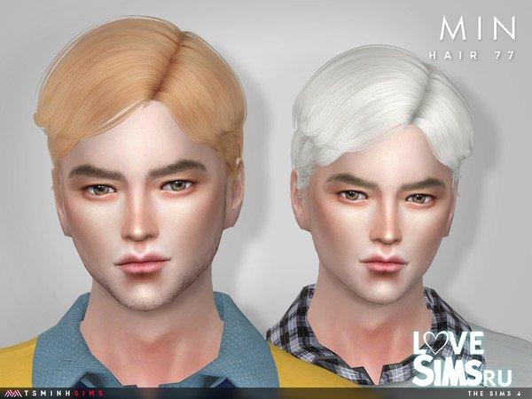 Прическа Min ( Hair 77 ) от TsminhSims