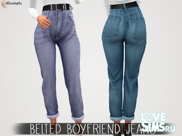 Джинсы Belted Boyfriend от elliesimple