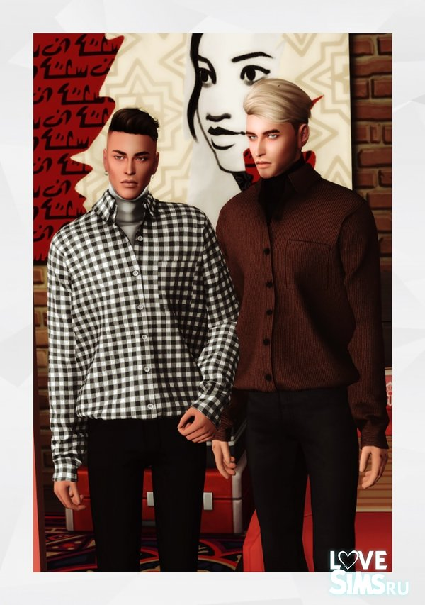 Рубашка CORDUROY SHIRT WITH TURTLENECK