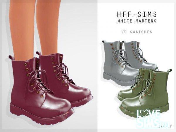 Ботинки HFF-SIMS WHITE MARTENS