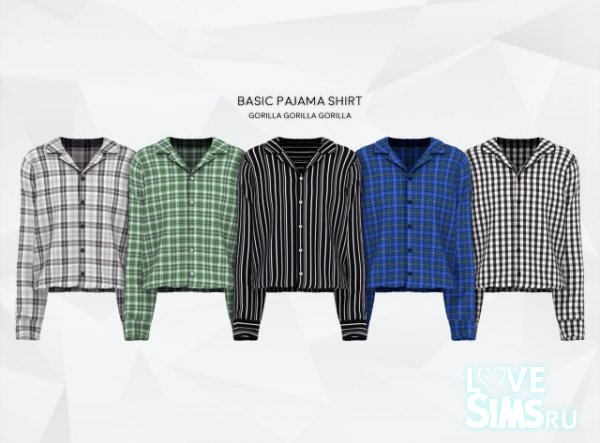 Рубашка Basic Pajama Shirt от Gorilla
