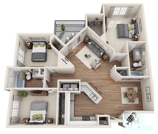 Схемы домов в Симс 4