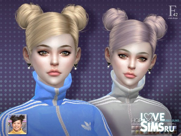 Прическа double-buns n42 от S-club