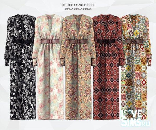 Платье Belted Long Dress