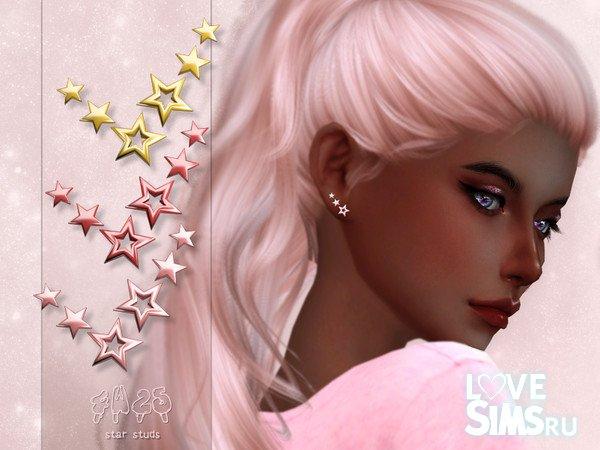 Серьги Star Studs от 4w25 Sims