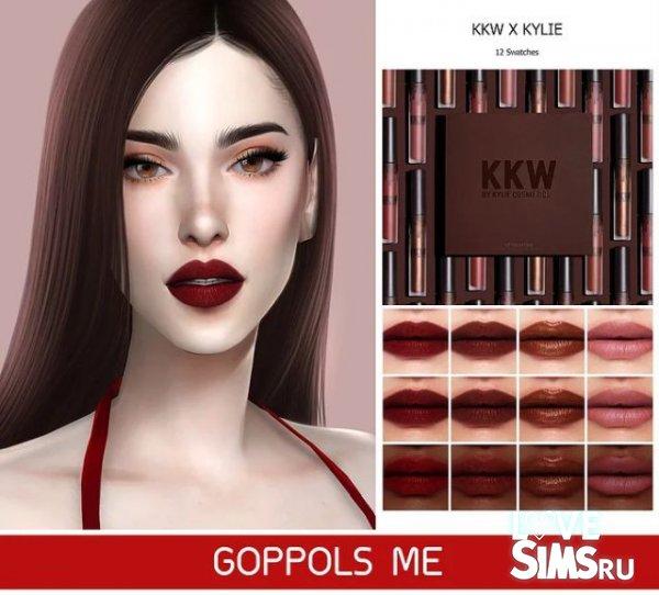 Помада GPME KKW X KYLIE round 2 lip set