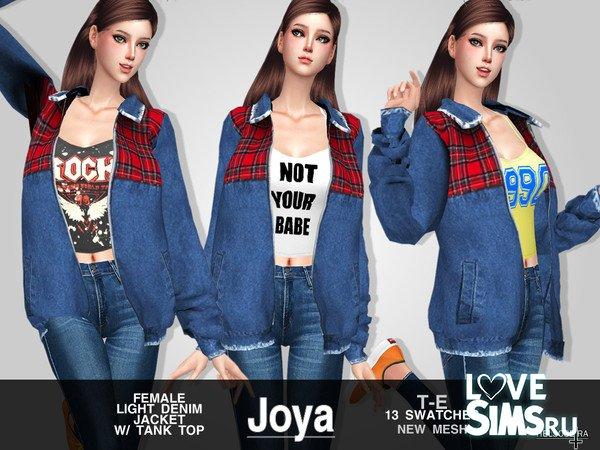 Джинсовая куртка JOYA от Helsoseira