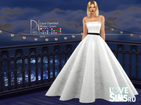 Платье Lace Detaied Bridal Gown