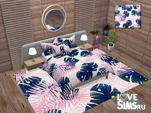 Декор Tropical Watercolor Bedroom Accessories