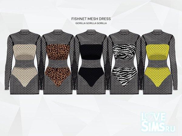Платье Fishnet от Gorilla X3