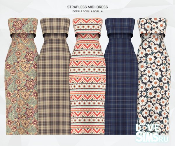Сарафан Strapless Midi Dress