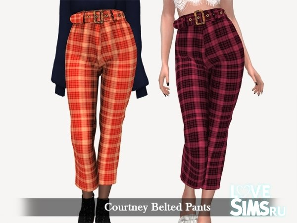 Брюки Courtney Belted Pants