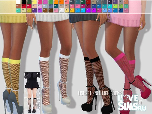 Гольфы Summer Fishnet Knee High Socks