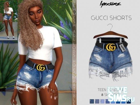 Джинсовые шорты Gucci