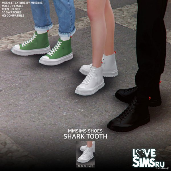 Кеды Shark tooth Sneakers