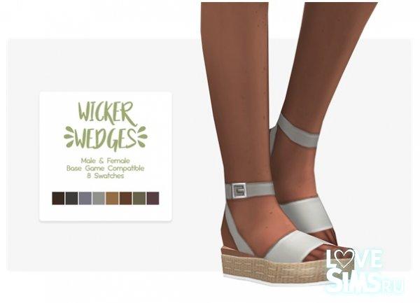 Босоножки Wicker Wedges