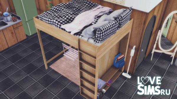Кровать Double-decker wood bed