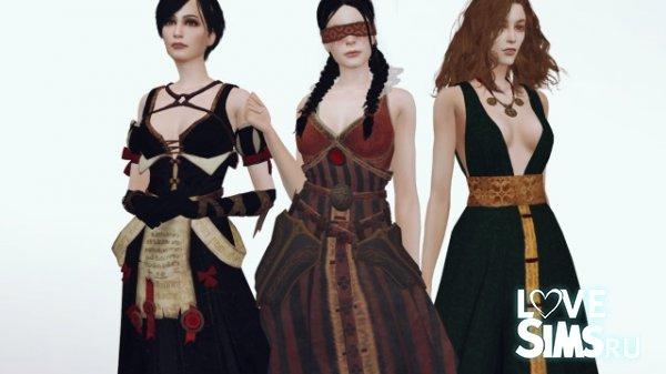 Платья чародеек из Ведьмак 3