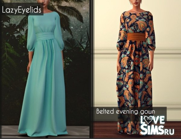 Платье belted evening gown