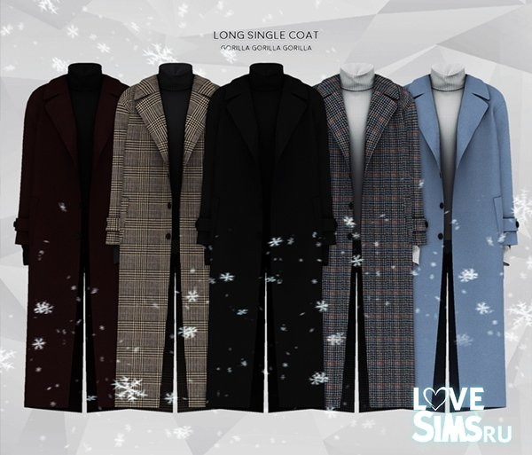Пальто Long Single Coat