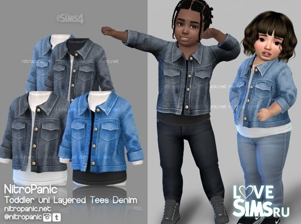 Детская куртка layered Tees Denim