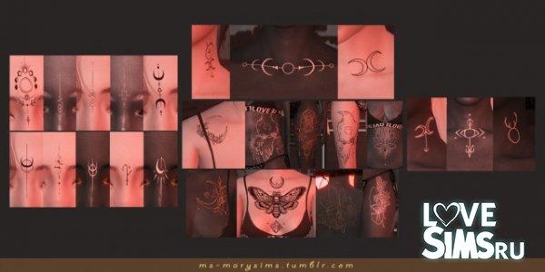 Tattoos Set Witch`s mark от MS-MarySims