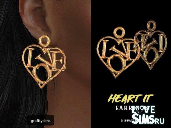 Серьги heart от grafity-cc