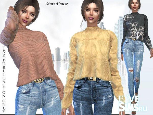 Шерстяной свитер от Sims House