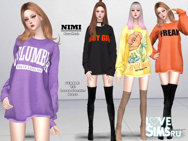 Платье-свитер NIMI от Helsoseira