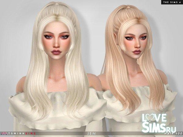 Прическа Jen от TsminhSims