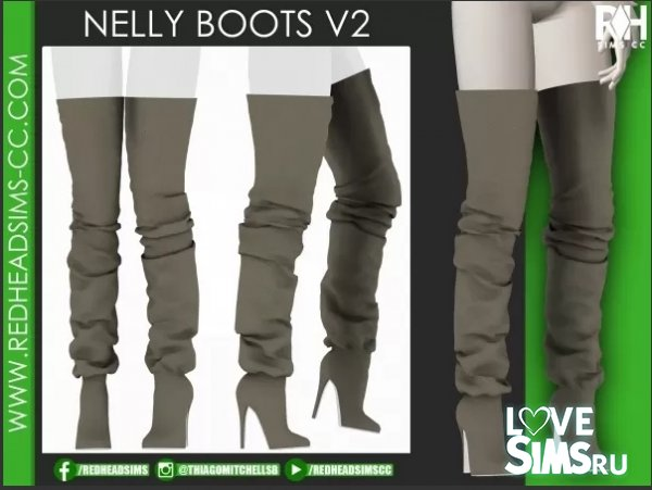 Ботфорты nelly boots v2 от redheadsims