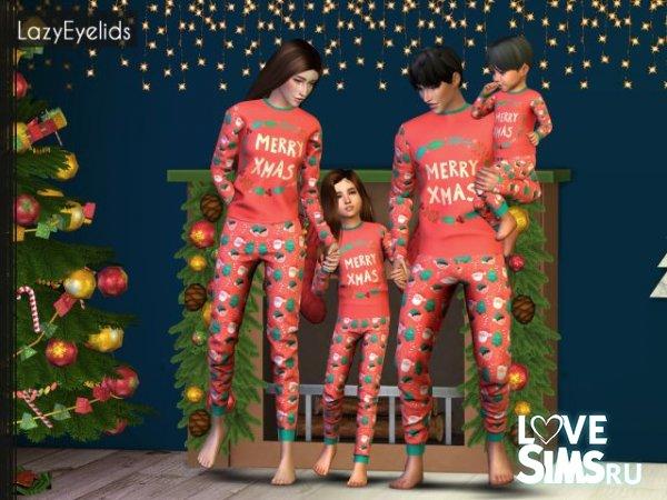 Рождественские пижамы от LazyEyelids