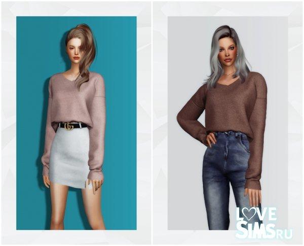 Свитер V-Neck Sweater