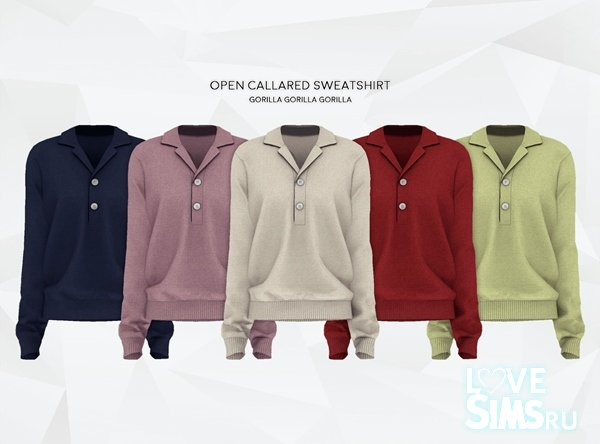 Толстовка Open Callared Sweatshirt