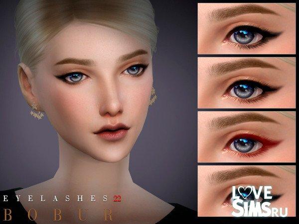 Цветные ресницы Eyelashes 22
