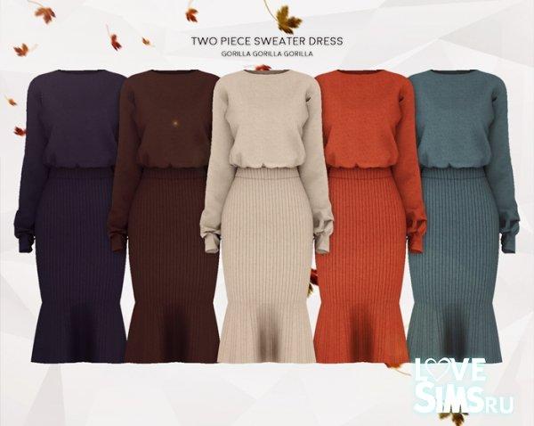 Платье Two Piece Sweater Dress