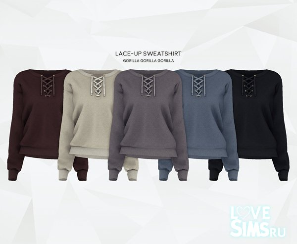 Свитер Lace-Up Sweatshirt