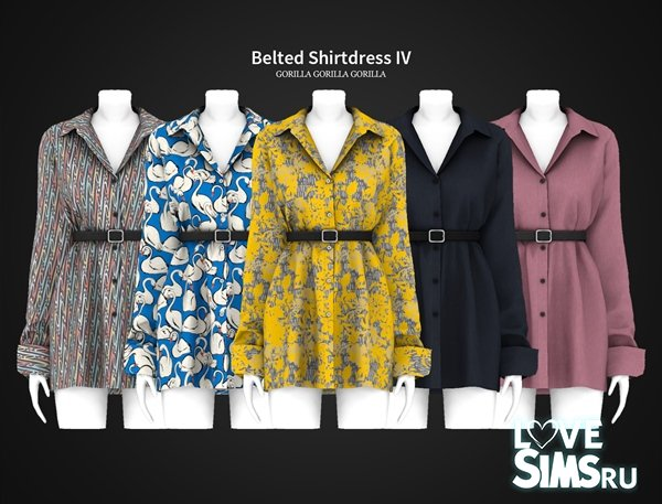 Платье Belted Shirtdress от Gorilla X3