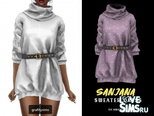 Платье Sanjana Belted Sweater Dress