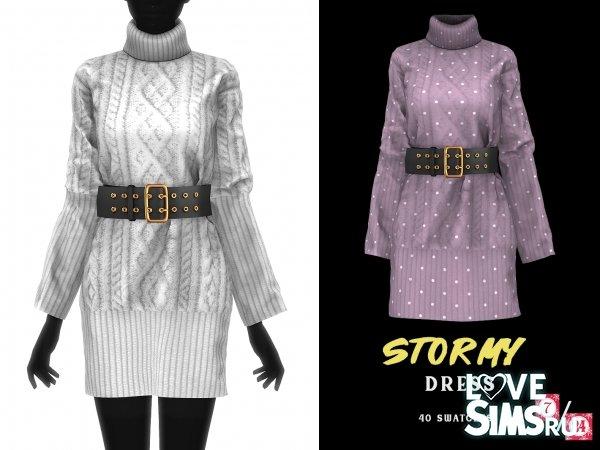 Платье Stormy Belted