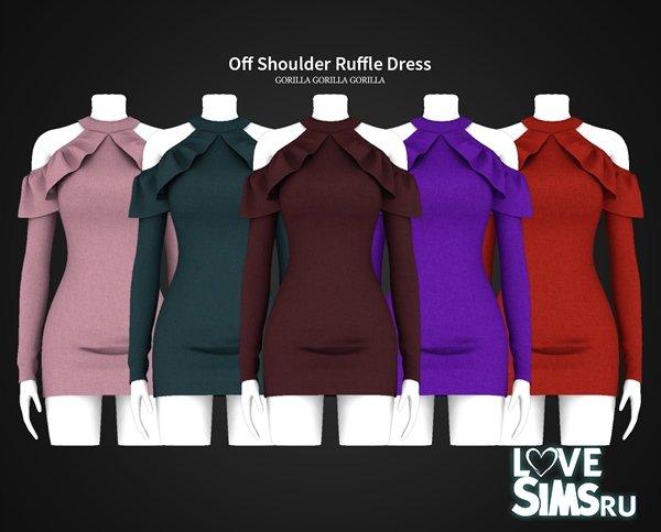 Платье Off Shoulder Ruffle Dress