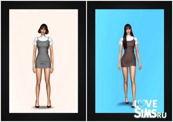 Платье Bustier Dress & Turtleneck