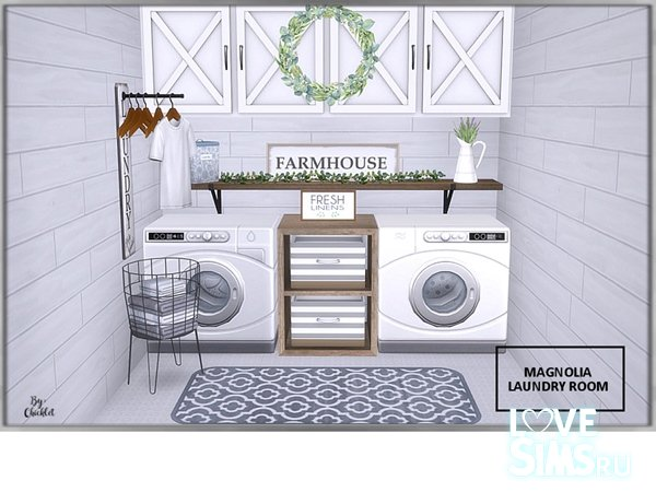 Прачечная Magnolia Laundry Room