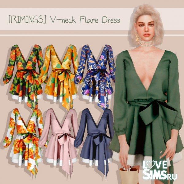Платье V-neck Flare от RIMINGs