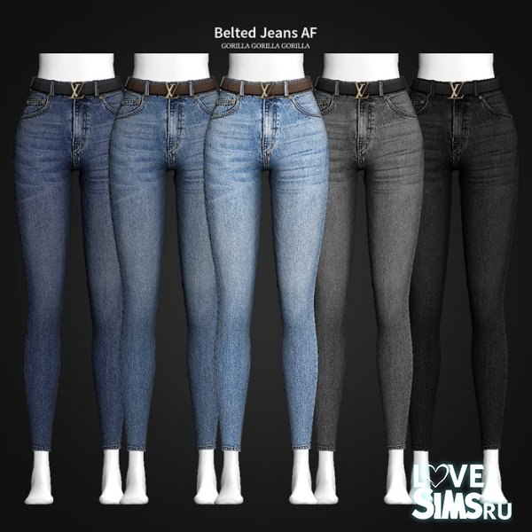 Джинсы Belted Jeans от Gorilla X3