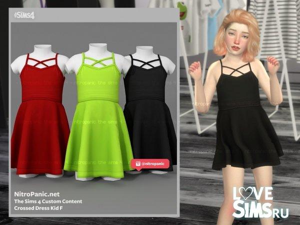 Платье Crossed Dress от Nitropanic
