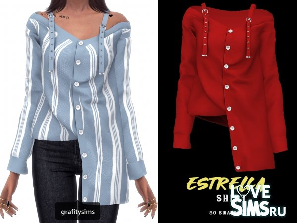 Рубашка Estrella от Grafity-cc